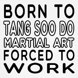born_to_tang_soo_do_martial_art_wall_clock